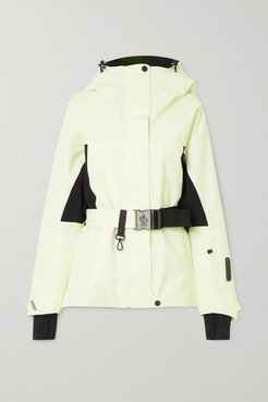 Paquier Belted Two-tone Padded Shell Down Jacket - White