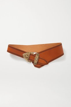 Liko Asymmetric Leather Belt - Tan