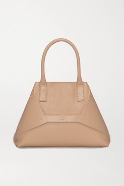Aicon Small Embossed Textured-leather Tote - Beige