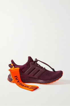 Ivy Park Ultraboost Canvas, Mesh And Rubber-trimmed Primeknit Sneakers - Burgundy