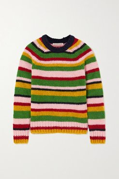 Striped Knitted Sweater - Green