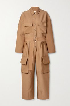 Linda Twill Jumpsuit - Tan