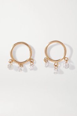 Bohème 18-karat Gold Diamond Earrings