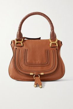 Marcie Small Textured-leather Tote - Tan