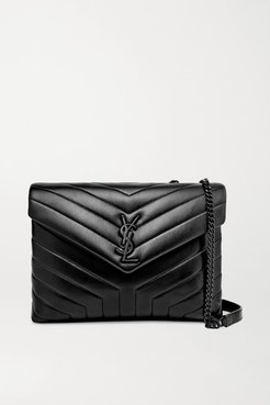 Loulou Medium Quilted Leather Shoulder Bag - Black