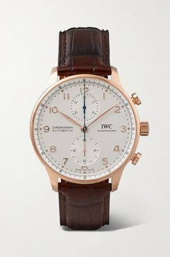 Portugieser Automatic Chronograph 41mm 18-karat Rose Gold And Alligator Watch