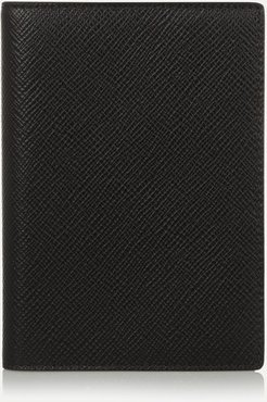 Textured-leather Passport Cover - Black