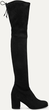 Tieland Suede Over-the-knee Boots - Black