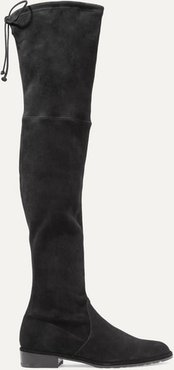 Lowland Suede Over-the-knee Boots - Black