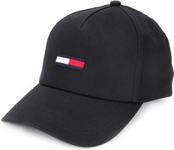 embroidered baseball cap - Black