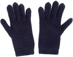 knitted gloves - Blue