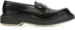 chunky sole penny loafers - Black