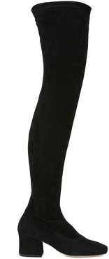 Sybil Leek over-the-knee boots - Black