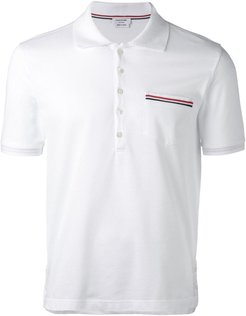 chest pocket polo shirt - White