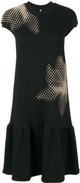 T-shirt drop waist dress - Black