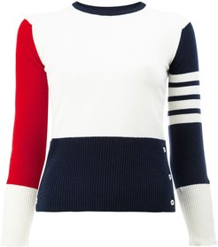 Contrast stripe pullover - 960 RWBWHT