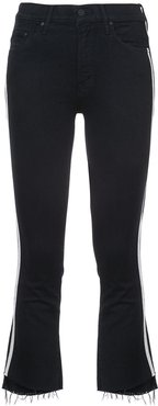 cropped racer jeans - Black