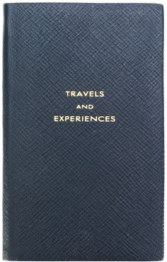 Travels & Experiences notebook - Blue