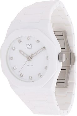 A-CR02 Crystal watch - White
