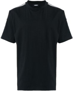 side stripe T-shirt - Black