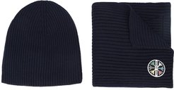 1st Tracks hat & scarf - Blue