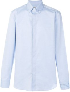embroidered shirt - Blue
