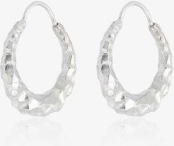 Sterling Silver carved Fat Baby Snake earrings