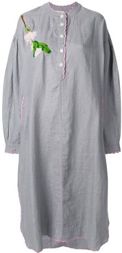 embroidered tunic dress - Grey