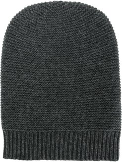 knitted cashmere beanie - Grey