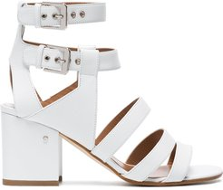 White Rela 70 Strappy Leather Sandals