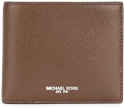 logo print wallet - Brown
