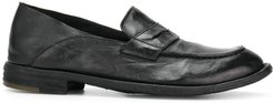 distressed penny loafers - Black
