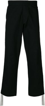 Side chain panel trousers - Black