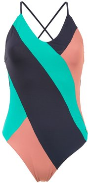 3 Cores striped swimsuit - Blue
