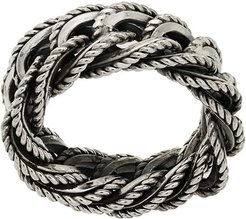 cable chain ring - Metallic
