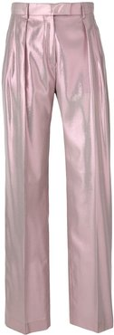 shimmery tailored trousers - PINK
