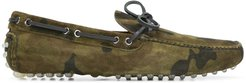 camouflage driver loafers - Green