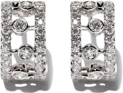 18kt white gold Dewdrop diamond earrings
