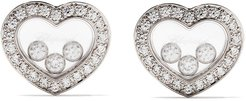 18kt white gold Happy Diamonds Icons ear pins