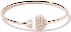 18kt rose gold Happy Hearts diamond bangle