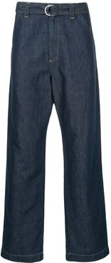 loose fit belted jeans - Blue