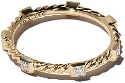 18kt yellow gold Cable Collectibles Cable diamond stack ring - 88ADI