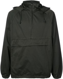 half zip pullover jacket - Brown