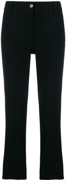 classic cropped trousers - Black