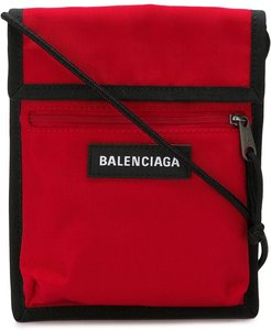 red Explorer logo embroidered pouch