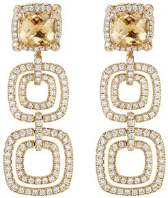 18kt yellow gold Châtelaine citrine and diamond drop earrings - 88ACCDI
