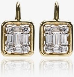 18K Yellow Gold Clarity Framed Drop Diamond Earrings