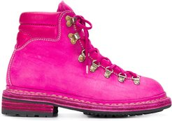 lace-up boots - PINK