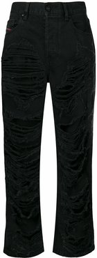 Aryel 084WH ripped jeans - Black