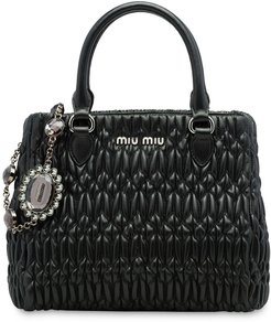 cloqué tote bag - Black